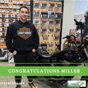 Miller experience in his dream work shop Harley Heaven parts Tempe