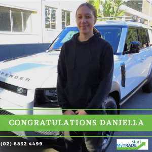 Daniella got offered a full Apprenticeship with The Alto Group