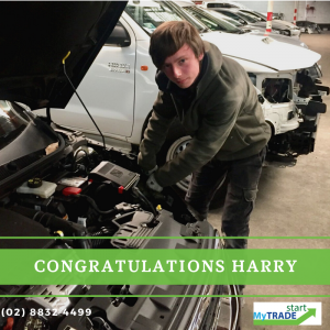 Harry's been offered  a position as a 1st year apprentice Panel Beater