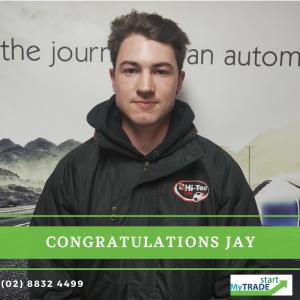 Jay undertook a week of work experience which help him begin his 4 year apprenticeship